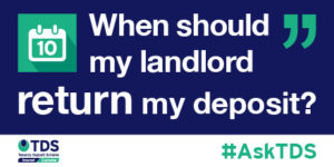 When should me landlord return my deposit? image