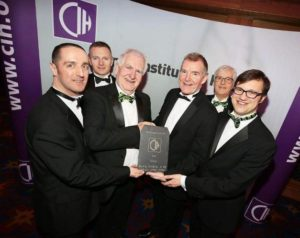Chartered Institute of Housing award 2017 team photo