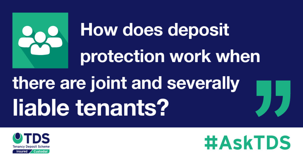 AskTDS Deposit protection for joint and severally liable tenants