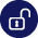 Deposit Protection unlocked padlock