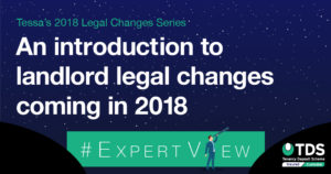 Image saying an introduction to landlord legal changed coming int 2018