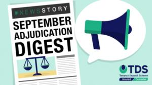 Image saying: September Adjudication Digest