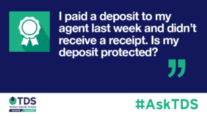 AskTDS blog image - Is my deposit protected?