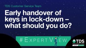 ExpertView blog image - Early handover of keys during lockdown