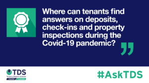 AskTDS blog graphic - check ins and property inspections during Covid-19