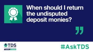AskTDS blog image - undisputed deposit monies