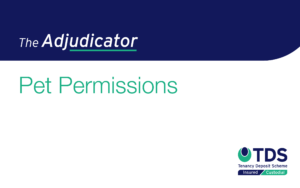 This edition of the Adjudicator focuses on whether a tenant had caused damage to a property by keeping a cat.